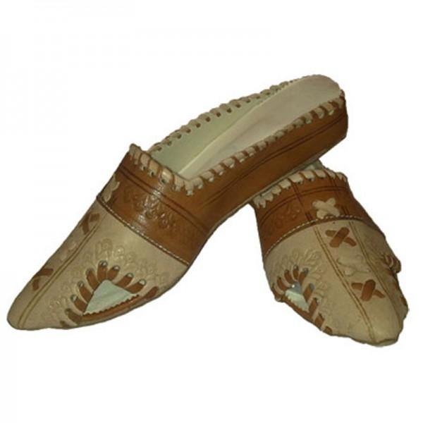 Details zu Orientalische Leder Schuhe Marokkanische Hausschuhe Slipper Pantoffel Babouche
