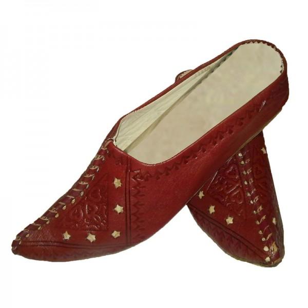 Details zu Orientalische Schuhe Leder Marokkanische Babouche Pantoffel Hausschuhe Marokko